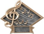 Music - Diamond Plate Resin Trophy Music Awards and Medals