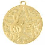 Superstar 2 Medal - Music Music Medals
