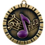 Music - 3-D Medallion Music Medals