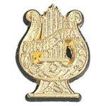 Orchestra Lyre - Chenille Pin Music Medals