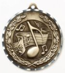 Diamond Cut Medal - Music Music Medals