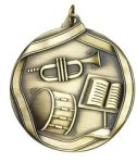 Band - Ribbon Medallion Music Medals