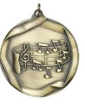 Music - Ribbon Medallion Music Medals