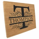 Leatherette Wall Decor & Signage - Bamboo Finish/Black Name Plates and Signs