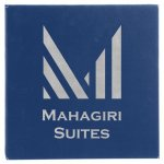 Leatherette Wall Decor & Signage - Blue/Silver  Name Plates and Signs