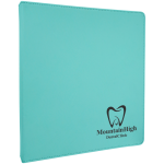 Teal/Black Laserable Leatherette 3 Ring Binder  Office Items