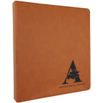 Rawhide/Black Laserable Leatherette 3 Ring Binder   Office Items