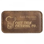 Leatherette Large Rectangle Name Badge Office Items
