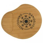 Bamboo Finish Leatherette Mouse Pad Office Items