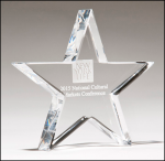 A Crystal Star Paperweight Paperweights