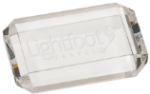 A Premier Crystal Rectangle Paperweight Paperweights
