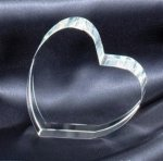 An Optical Crystal Heart Paperweight Paperweights