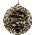 Citizenship - Spinner Medallion Patriotic and Military