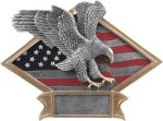 Eagle - Diamond Plate Resin Trophy Patriotic and Military