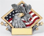 Eagle - Diamond Plate Resin Award Patriotic and Military