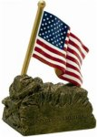 US Flag - Full Color Resin Trophy Patriotic and Military