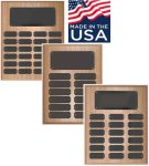 Oak Finish Perpetual Plaque Perpetual Plaques Made in the USA