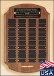 American Walnut Ornate Perpetual Plaque Perpetual Plaques Made in the USA