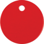 Round Pet Tag - Red Pet Tags