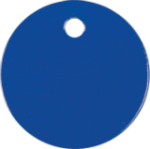 Round Pet Tag - Blue Pet Tags