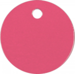 Round Pet Tag - Pink Pet Tags