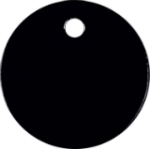 Round Pet Tag - Black Pet Tags