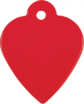 Heart Pet Tag - Red Pet Tags