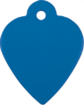 Heart Pet Tag - Blue Pet Tags