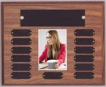 Walnut Perpetual Photo Plaque   Photo Plaques