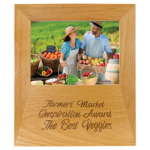Alder Picture Frame with Engraving Area Photo Plaques