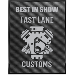 Black Piano Carbon Fiber Finish Plaque Piano Finish Plaques - Black