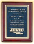 Sapphire, Ruby or Emerald Marble & Rosewood Piano Finish Plaque Piano Finish Plaques - Rosewood