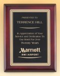 Rosewood Piano Finish Plaque Piano Finish Plaques - Rosewood