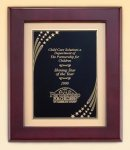 XL Rosewood Piano Finish Frame with Brass Plate Piano Finish Plaques - Rosewood
