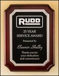 Notched Corner Rosewood Piano Finish Plaque Piano Finish Plaques - Rosewood