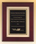 XL Rosewood Piano Finish Frame with Florentine Plate Piano Finish Plaques - Rosewood