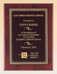 Rosewood Piano Finish Plaque with Brass Plate Piano Finish Plaques - Rosewood