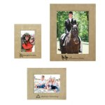 Leatherette Photo Frame - Light Brown/Black Picture Frames and Gifts