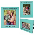 Leatherette Photo Frame - Teal/Black Picture Frames and Gifts