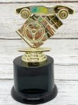 Pinewood Derby on Round Base Pinewood Derby Individual Trophy/Award