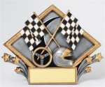Car Show - Racing Diamond Plate Pinewood Derby Individual Trophy/Award