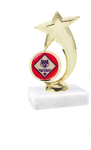 Pinewood Derby with Shooting Star Spin Mylar Holder Pinewood Derby Individual Trophy/Award