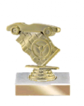 A Best Seller! Pinewood Derby on Marble Base Pinewood Derby Individual Trophy/Award