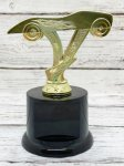 Economy Pinewood Derby Car on Round Base Pinewood Derby Trophies
