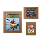 Leatherette Photo Frame - Dark Brown/Black   Pink Gift Items and Awards