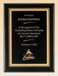 Black Piano Finish Plaque with Brass Plate Plaques | Best Sellers
