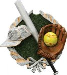 Softball Plaque with Full Color Mount Plaques | Economy