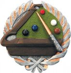 Pool/Billiards Plaque with Full Color Mount Plaques | Economy