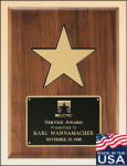 American Walnut Plaque with 5 Plaques with Mounts Made in the USA