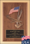 American Walnut Plaque with Eagle Casting Plaques with Mounts Made in the USA